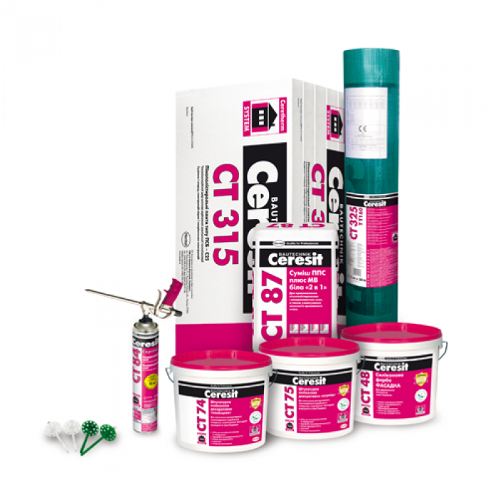 Ceresit Ceretherm Express System 120 (decor layer - dry plaster and paint)