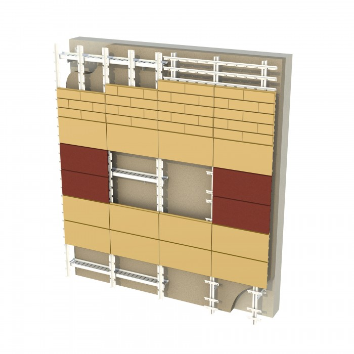 Енергозберігаюча вентильована фасадна система SCANROC (Rockwool (Rockmin Plus + Wentirock Max)) 120 mm