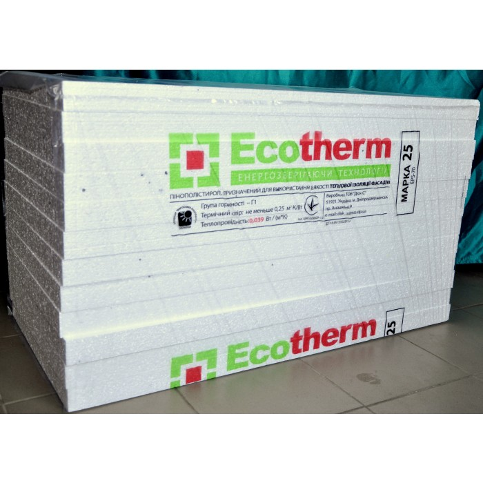 Ecotherm ПСБ-С 25 (EPS 70) (100 мм)