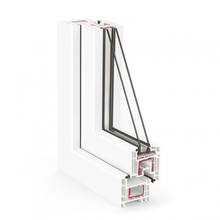 REHAU EURO Design-70 / 4low-8-4-12Ar-4low