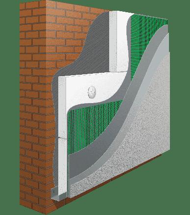 Система  утеплення ANSERGLOB з використанням пінополістирольних плит EPS 80 (100мм)