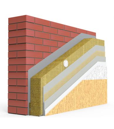 ELEMENT PRO FACADE SYSTEM з використанням мінераловатних плит (100мм)