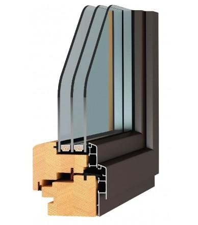 """Карпатські Вікна """"Стандарт"""" 68 сосна-алюміній / 4і-10Ar-4-10Ar-4і"""
