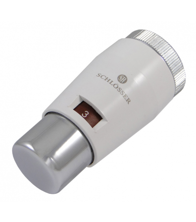 Термостатична головка Mini Brillant  біла-хром