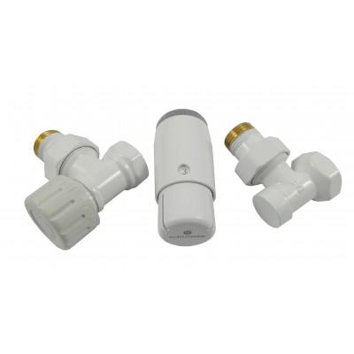 Комплект термостатичний Standard Mini кутовий білий