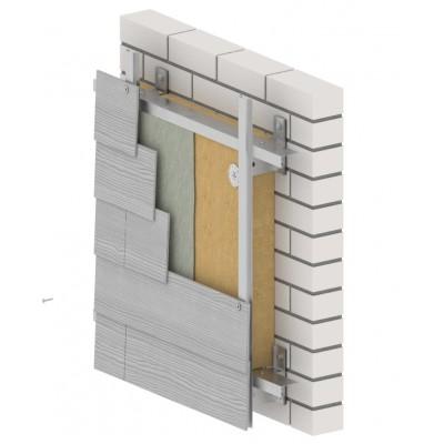 """Навісна вентильована фасадна система """"Твінс-Фібра"""" (100 мм)"""