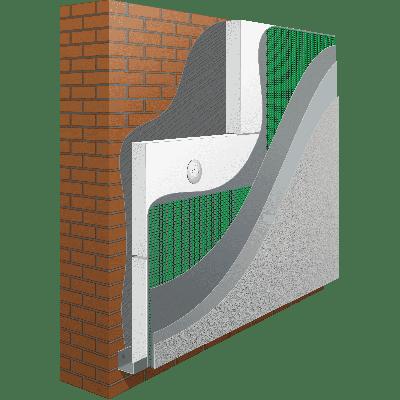 Система утепления ANSERGLOB с использованием пенополистирольных плит EPS 80 (100мм)